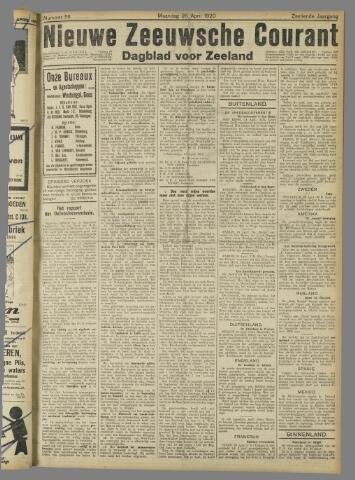 Nieuwe Zeeuwsche Courant 1920-04-26
