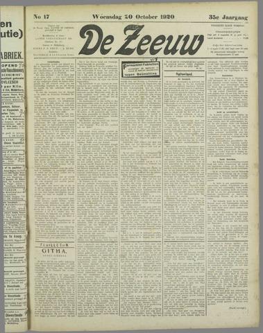 De Zeeuw. Christelijk-historisch nieuwsblad voor Zeeland 1920-10-20