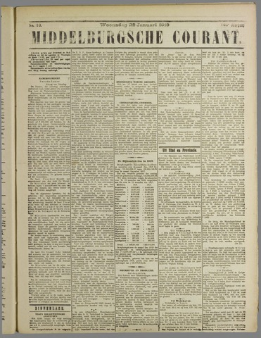 Middelburgsche Courant 1919-01-22