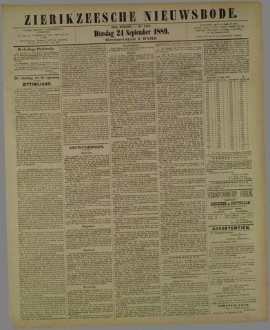 Zierikzeesche Nieuwsbode 1889-09-24
