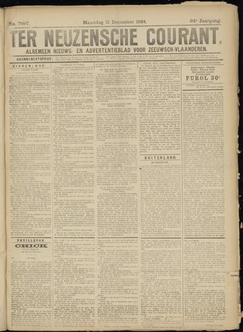 Ter Neuzensche Courant. Algemeen Nieuws- en Advertentieblad voor Zeeuwsch-Vlaanderen / Neuzensche Courant ... (idem) / (Algemeen) nieuws en advertentieblad voor Zeeuwsch-Vlaanderen 1924-12-15