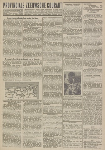 Provinciale Zeeuwse Courant 1942-11-25