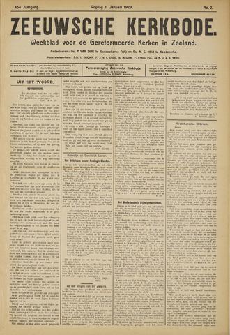 Zeeuwsche kerkbode, weekblad gewijd aan de belangen der gereformeerde kerken/ Zeeuwsch kerkblad 1929-01-11