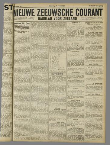 Nieuwe Zeeuwsche Courant 1920-06-07