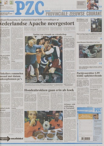 Provinciale Zeeuwse Courant 2004-08-30
