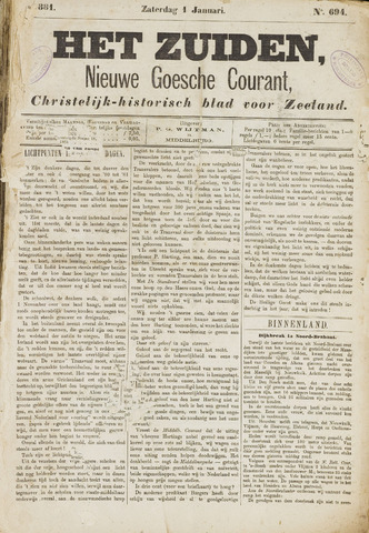 Het Zuiden, Christelijk-historisch blad 1881