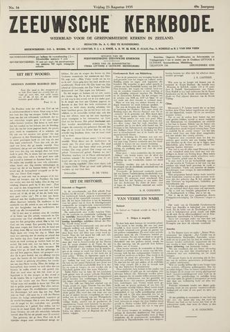 Zeeuwsche kerkbode, weekblad gewijd aan de belangen der gereformeerde kerken/ Zeeuwsch kerkblad 1935-08-23