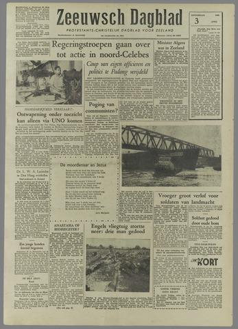 Zeeuwsch Dagblad 1958-04-03
