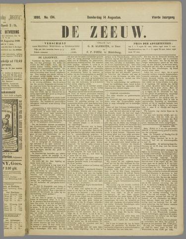 De Zeeuw. Christelijk-historisch nieuwsblad voor Zeeland 1890-08-14