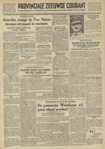 Provinciale Zeeuwse Courant 1951-01-29