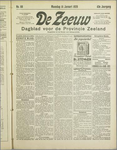 De Zeeuw. Christelijk-historisch nieuwsblad voor Zeeland 1929-01-14