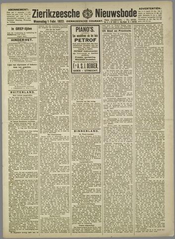 Zierikzeesche Nieuwsbode 1922-02-01