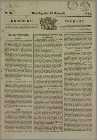 Goessche Courant 1844-01-22