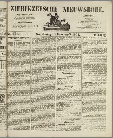 Zierikzeesche Nieuwsbode 1851-02-06