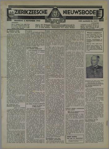 Zierikzeesche Nieuwsbode 1942-11-02