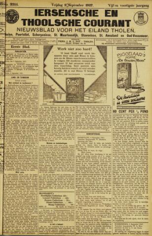 Ierseksche en Thoolsche Courant 1927-09-09
