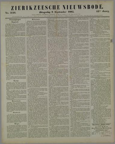 Zierikzeesche Nieuwsbode 1885-09-08