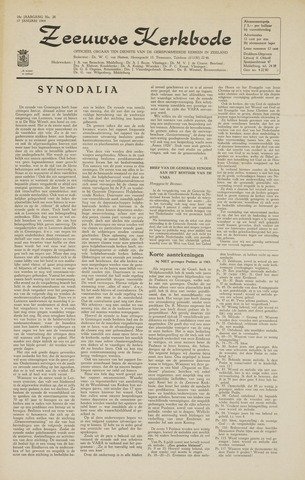 Zeeuwsche kerkbode, weekblad gewijd aan de belangen der gereformeerde kerken/ Zeeuwsch kerkblad 1964-01-17