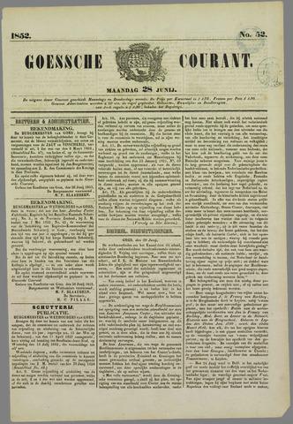Goessche Courant 1852-06-28
