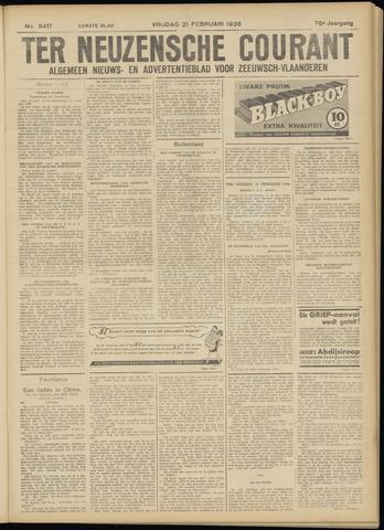 Ter Neuzensche Courant. Algemeen Nieuws- en Advertentieblad voor Zeeuwsch-Vlaanderen / Neuzensche Courant ... (idem) / (Algemeen) nieuws en advertentieblad voor Zeeuwsch-Vlaanderen 1936-02-21