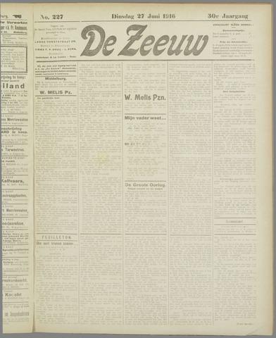 De Zeeuw. Christelijk-historisch nieuwsblad voor Zeeland 1916-06-27