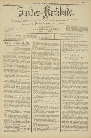 Zuider Kerkbode, Weekblad gewijd aan de belangen der gereformeerde kerken in Zeeland, Noord-Brabant en Limburg. 1897-11-26