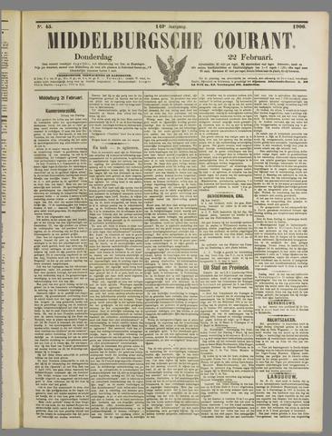 Middelburgsche Courant 1906-02-22