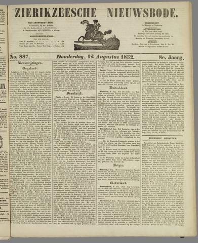 Zierikzeesche Nieuwsbode 1852-08-12