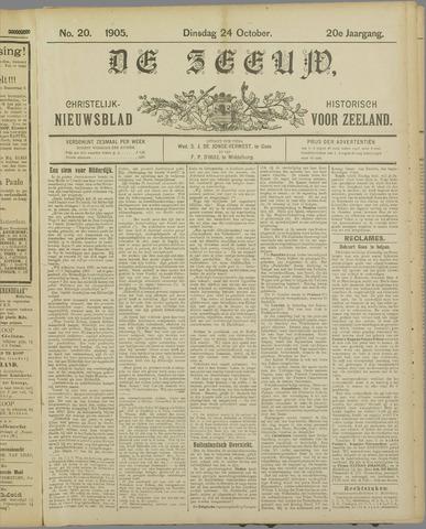 De Zeeuw. Christelijk-historisch nieuwsblad voor Zeeland 1905-10-24