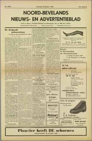 Noord-Bevelands Nieuws- en advertentieblad 1958-10-25