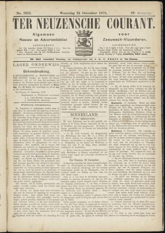 Ter Neuzensche Courant. Algemeen Nieuws- en Advertentieblad voor Zeeuwsch-Vlaanderen / Neuzensche Courant ... (idem) / (Algemeen) nieuws en advertentieblad voor Zeeuwsch-Vlaanderen 1879-12-24