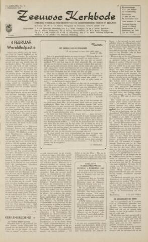Zeeuwsche kerkbode, weekblad gewijd aan de belangen der gereformeerde kerken/ Zeeuwsch kerkblad 1962-02-02