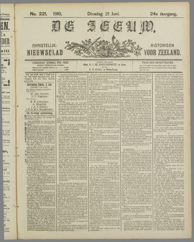 De Zeeuw. Christelijk-historisch nieuwsblad voor Zeeland 1910-06-21