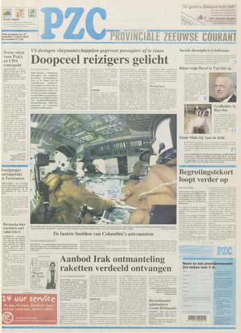 Provinciale Zeeuwse Courant 2003-03-01