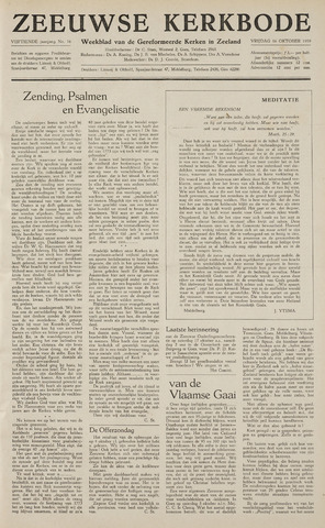 Zeeuwsche kerkbode, weekblad gewijd aan de belangen der gereformeerde kerken/ Zeeuwsch kerkblad 1959-10-16
