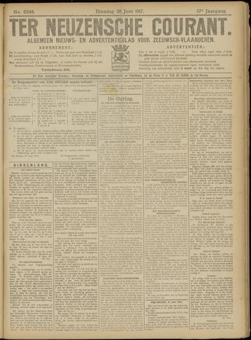 Ter Neuzensche Courant. Algemeen Nieuws- en Advertentieblad voor Zeeuwsch-Vlaanderen / Neuzensche Courant ... (idem) / (Algemeen) nieuws en advertentieblad voor Zeeuwsch-Vlaanderen 1917-06-26