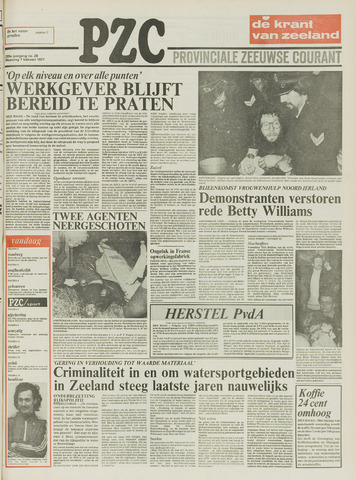 Provinciale Zeeuwse Courant 1977-02-07