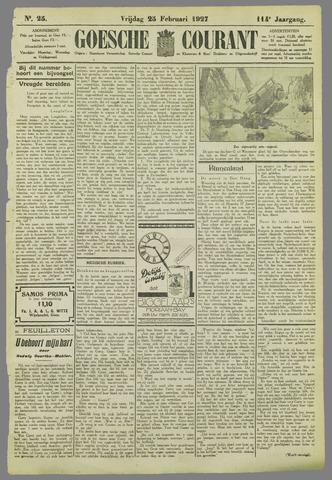 Goessche Courant 1927-02-25