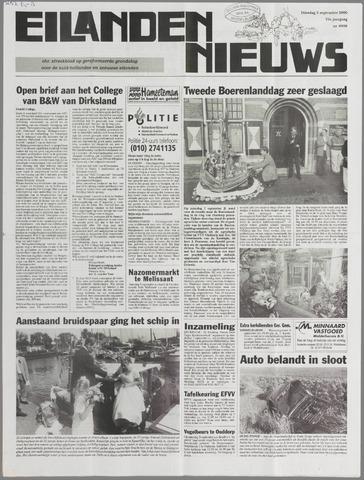 Eilanden-nieuws. Christelijk streekblad op gereformeerde grondslag 2000-09-05