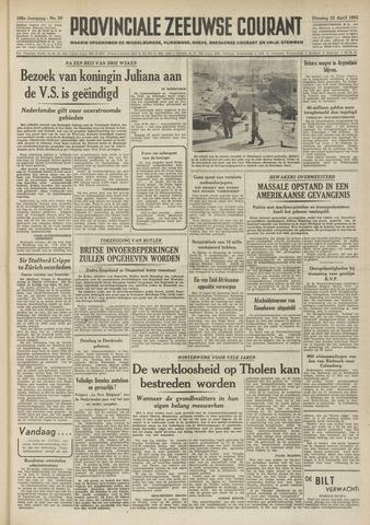 Provinciale Zeeuwse Courant 1952-04-22