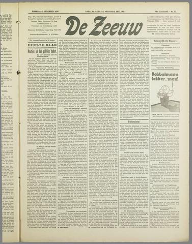 De Zeeuw. Christelijk-historisch nieuwsblad voor Zeeland 1934-11-12