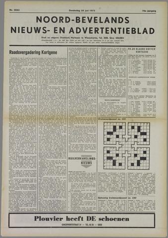 Noord-Bevelands Nieuws- en advertentieblad 1973-06-28