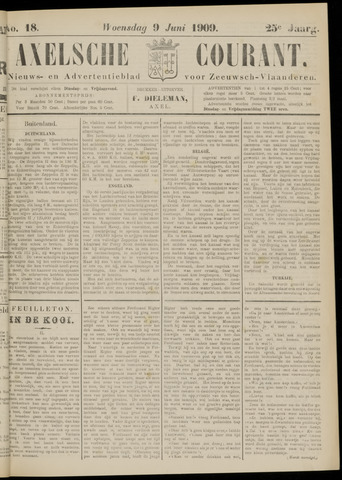 Axelsche Courant 1909-06-09