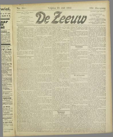 De Zeeuw. Christelijk-historisch nieuwsblad voor Zeeland 1919-07-18
