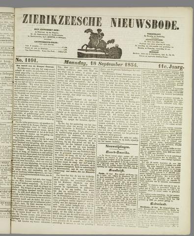Zierikzeesche Nieuwsbode 1854-09-18