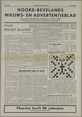 Noord-Bevelands Nieuws- en advertentieblad 1971-08-26