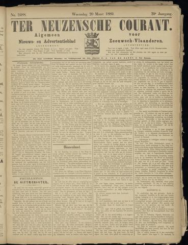 Ter Neuzensche Courant. Algemeen Nieuws- en Advertentieblad voor Zeeuwsch-Vlaanderen / Neuzensche Courant ... (idem) / (Algemeen) nieuws en advertentieblad voor Zeeuwsch-Vlaanderen 1889-03-20