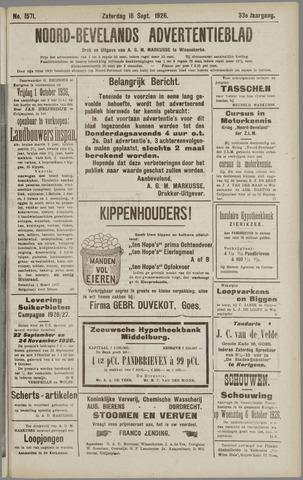 Noord-Bevelands Nieuws- en advertentieblad 1926-09-18