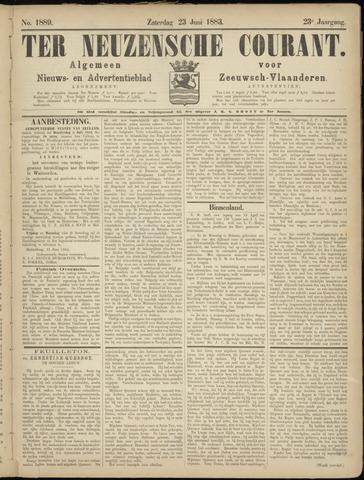 Ter Neuzensche Courant. Algemeen Nieuws- en Advertentieblad voor Zeeuwsch-Vlaanderen / Neuzensche Courant ... (idem) / (Algemeen) nieuws en advertentieblad voor Zeeuwsch-Vlaanderen 1883-06-23