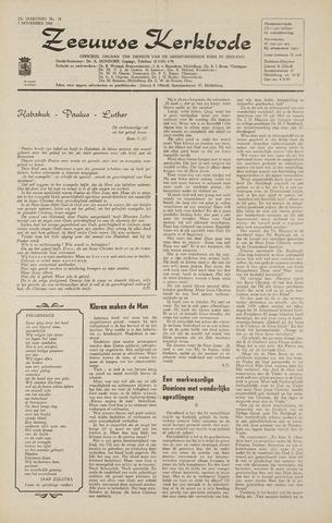 Zeeuwsche kerkbode, weekblad gewijd aan de belangen der gereformeerde kerken/ Zeeuwsch kerkblad 1968-11-07